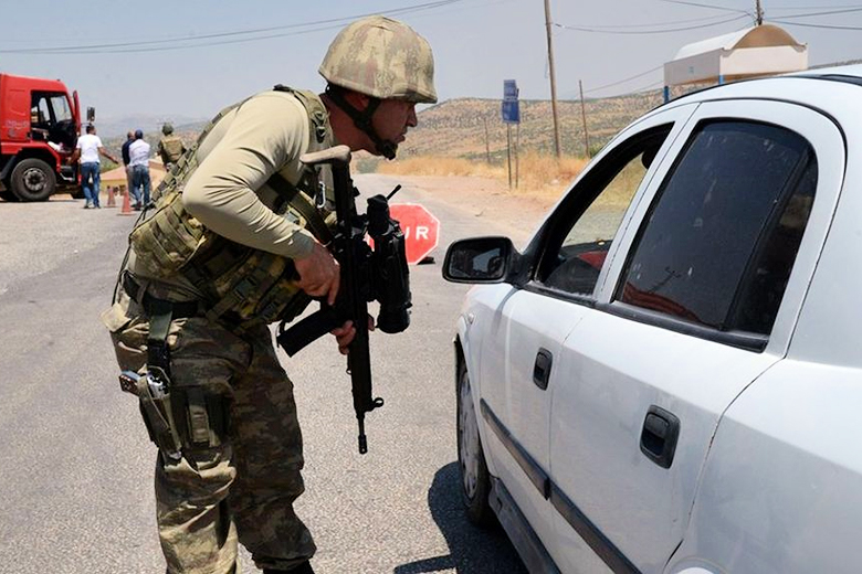AFP // Turkish soldiers have been patrolling parts of the country's predominantly Kurdish south-east.